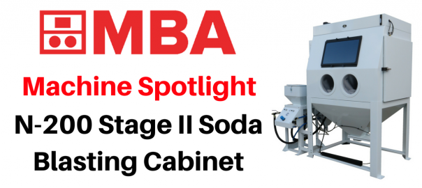 N-200 Stage II Soda Blasting Cabinet machine spotlight