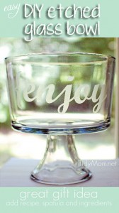 DIY etched glass bowl